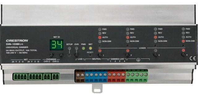 Crestron® DIN Rail Universal Dimmer-DIN-1DIMU4