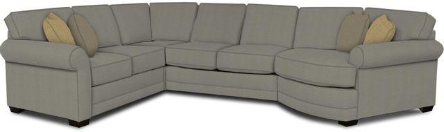 England Furniture Co. Brantley 4 Piece Culpepper Cement/Alvarado Mineral/Joshua Platinum Sectional-5630-28-22-43-95+8612+7742+8601