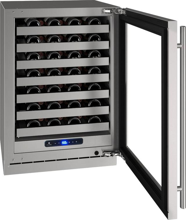 "U-Line® 24"" Stainless Frame Wine Captain®-UHWC524-SG51A"