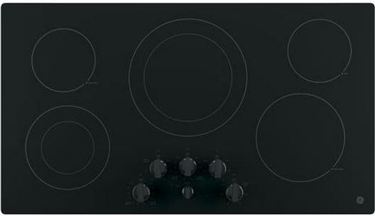 "GE® 36"" Electric Cooktop-Black-JP3536DJBB"