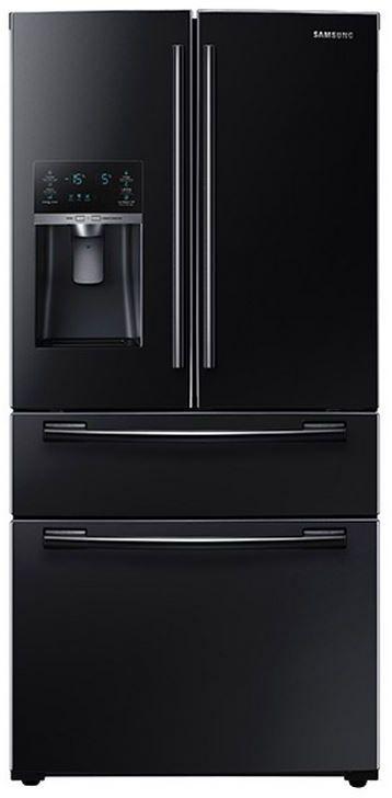 Samsung 25 Cu. Ft. French Door Refrigerator-Black-RF25HMEDBBC/AA
