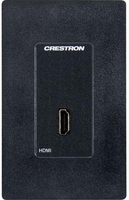 Crestron® Media Presentation Wall Plate-Black-MP-WP152-B