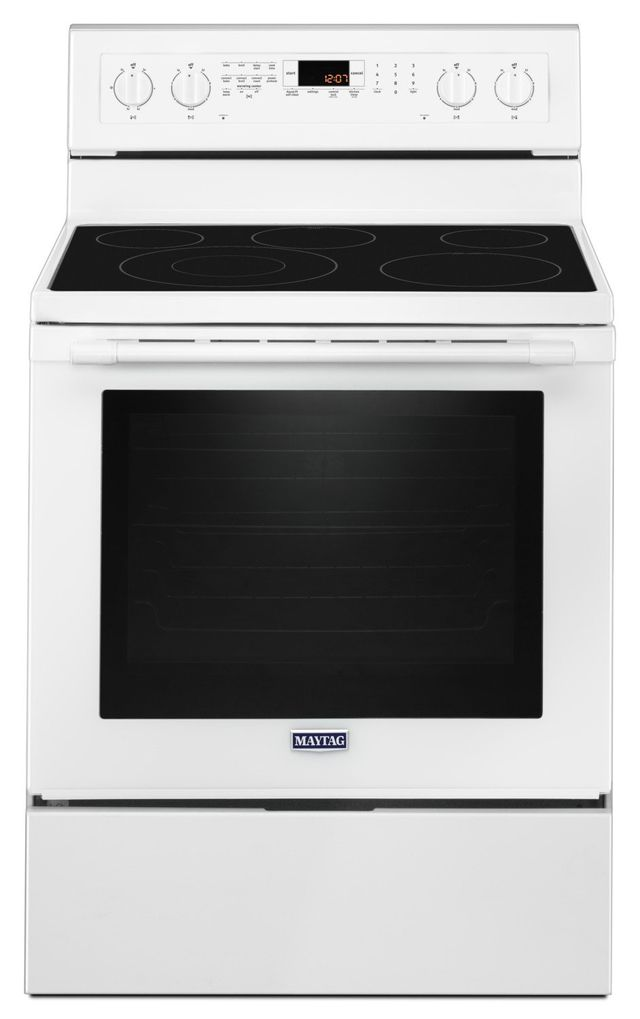 """Maytag® 30"""" White Free Standing Electric Range-YMER8800FW"""