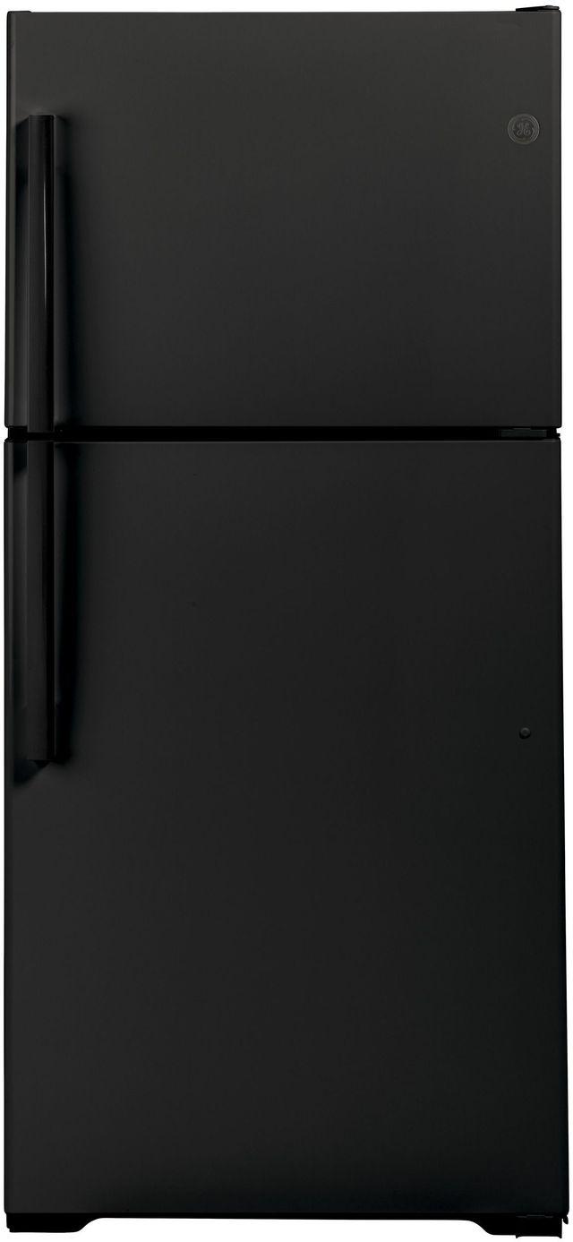 GE® 19.1 Cu. Ft. Black Top Freezer Refrigerator-GTS19KGNRBB