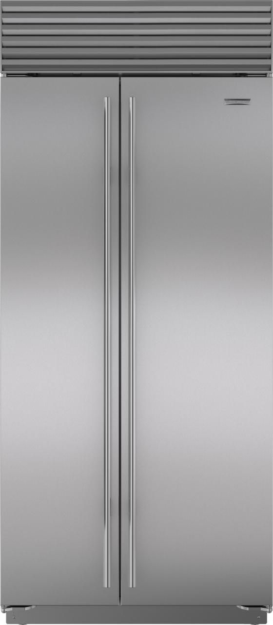 Sub-Zero® 20.6 Cu. Ft. Stainless Steel Built In Side By Side Refrigerator-BI-36S/S/TH