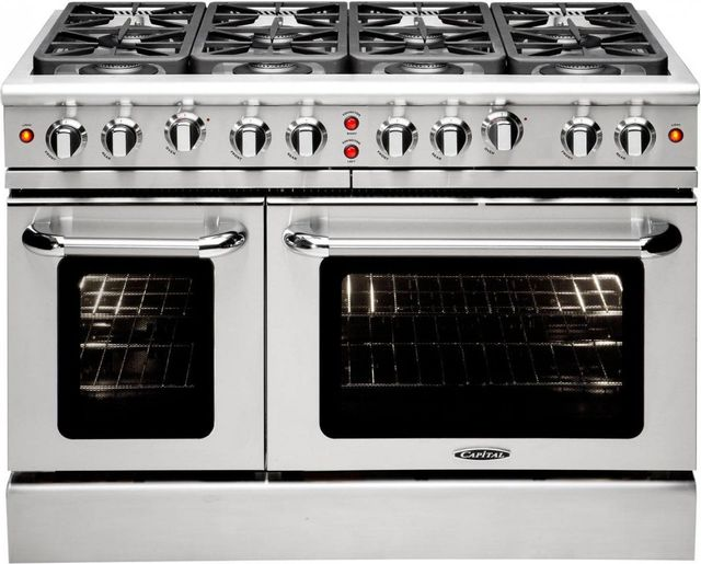 """Capital Precision™ 48"""" Stainless Steel Free Standing Gas Range-MCR488L"""