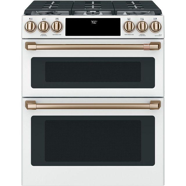 Cuisinière au gaz encastrée Cafe™ de 7,0 pi³ de 30 po - Blanc mat-CCGS750P4MW2