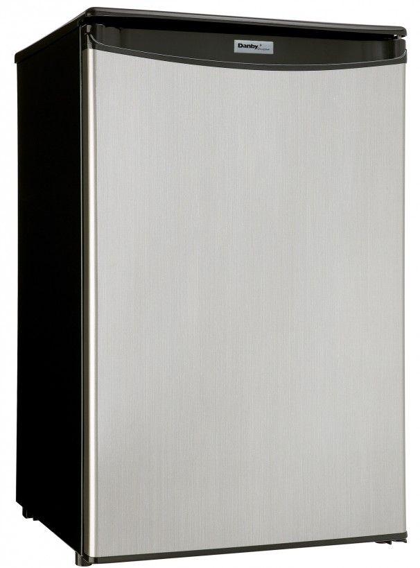 Danby® Designer® 4.4 Cu. Ft. Black Stainless Steel Compact Refrigerator-DAR044A4BSLDD