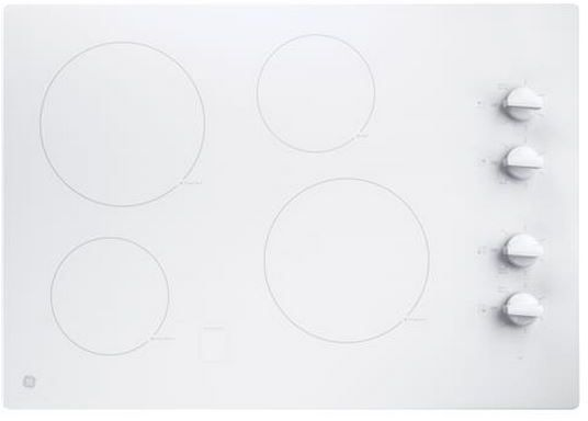 """GE® 30"""" Electronic Cooktop-White-JP3030TJWW"""