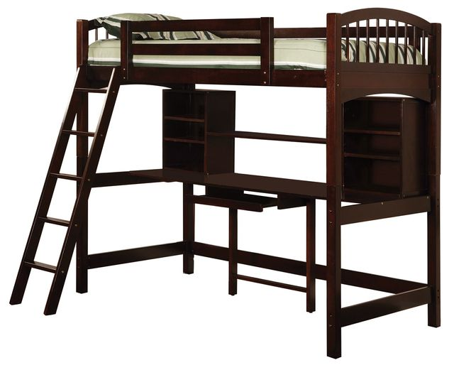 Coaster® Perris Cappuccino Youth Twin Workstation Loft-460063