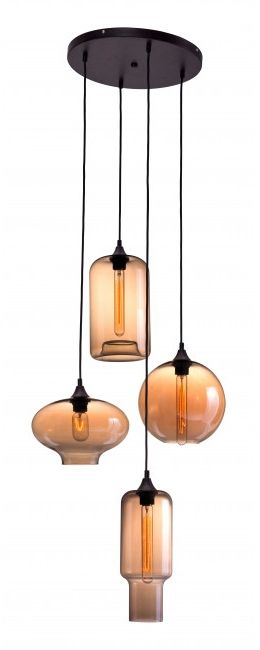 Zuo® Lambie Rust & Amber Ceiling Lamp-98425