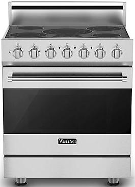 """Viking® 3 Series 30"""" Free Standing Electric Range-White-RVER33015BWH"""