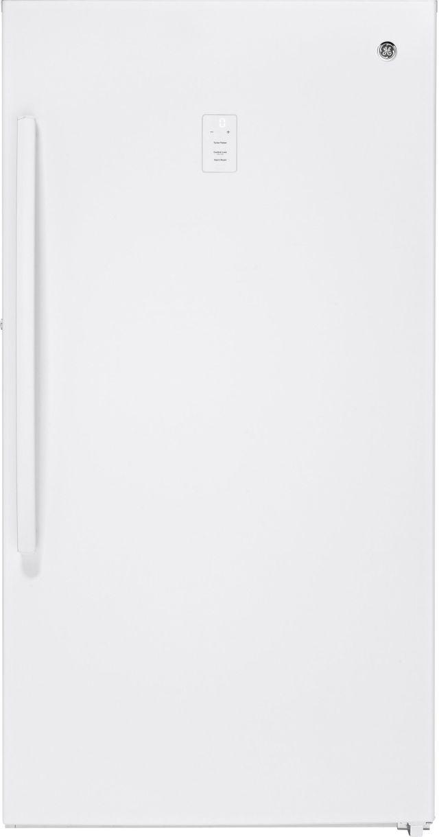 GE® 17.3 Cu. Ft. Upright Freezer-White-FUF17SMRWW