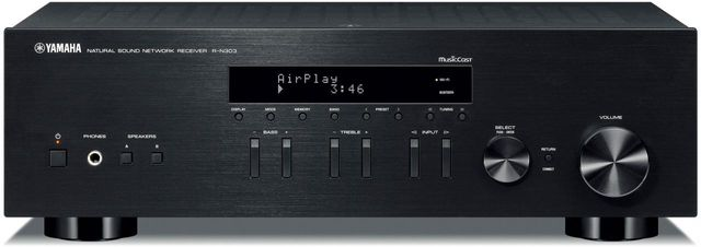 Yamaha Black 2 Channel Network Stereo Receiver-R-N303BL