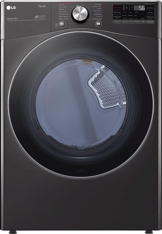 LG 7.4 Cu. Ft. Black Steel Front Load Gas Dryer-DLGX4201B