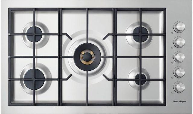 "Fisher & Paykel Series 9 36"" Stainless Steel Gas Cooktop-CG365DNGRX2 N"