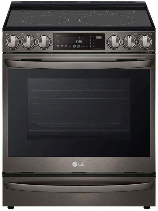 LG 6.3 Cu. Ft. PrintProof™ Black Stainless Steel Slide-In Electric Range -LSEL6337D