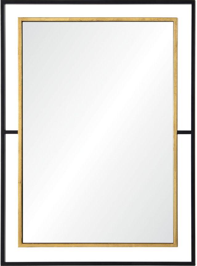 Miroir Gray, feuille d'or/noir, Renwil®-MT2244