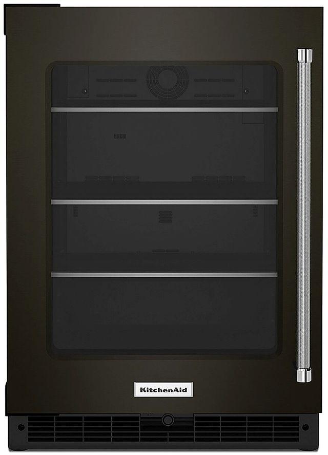 KitchenAid® 5.2 Cu. Ft. Black Stainless Steel Beverage Center-KURL314KBS
