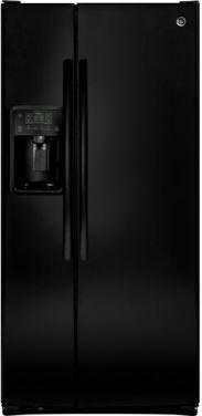 GE® 23.2 Cu. Ft. Side-By-Side Refrigerator-Black-GSS23GGKBB