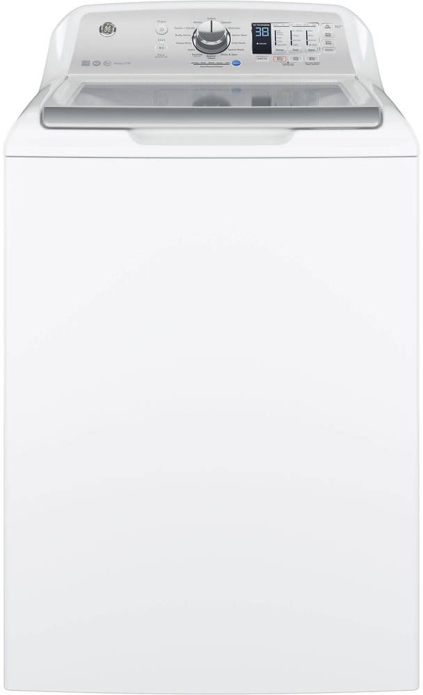 GE® Top Load Washer-White with Silver Backsplash-GTW685BSLWS