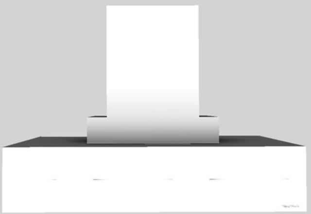 "Vent-A-Hood® 42"" Contemporary Island Range Hood-White-CIEH9-242 WH"