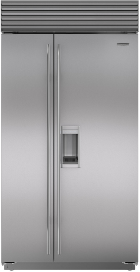 Sub-Zero® 23.9 Cu. Ft. Built In Side By Side Refrigerator-Stainless Steel-BI-42SD/S/TH
