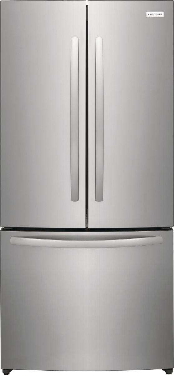 Frigidaire® 17.6 Cu. Ft. Brushed Steel Counter-Depth French Door Refrigerator-FRFG1723AV