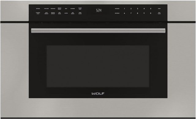 """Wolf® M Series Transitional 30"""" Stainless Steel Built In Microwave Oven-MDD30TM/S/TH"""
