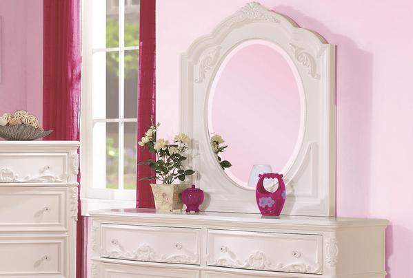 Coaster® Caroline White Mirror-400724