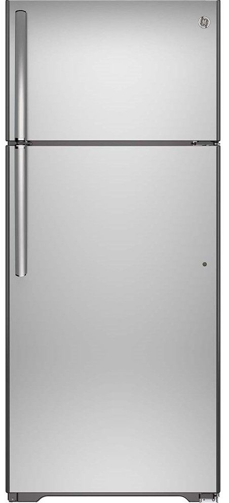 Réfrigérateur à congélateur supérieur de 30 po GE® de 18,0 pi³ - Acier inoxydable-GTE18FSLKSS
