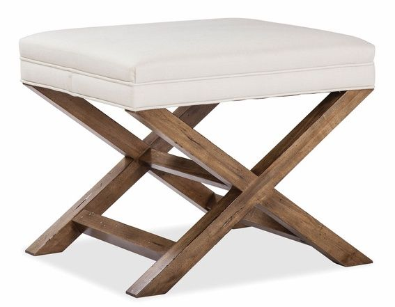 Durham Furniture Escarpment Solid Accents Stone Dust/Evere Ivory Bench/Fabric-181-020B