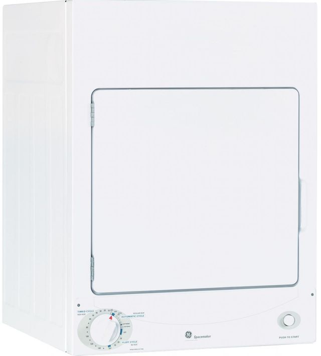 GE® Spacemaker® Front Load Electric Dryer-White-DSKS333ECWW