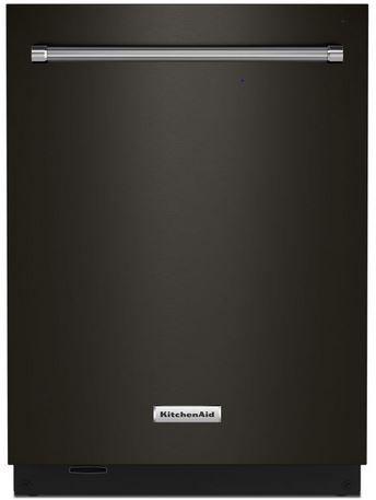 "KitchenAid® 24"" PrintShield™ Black Stainless Steel Built In Dishwasher-KDTM604KBS"