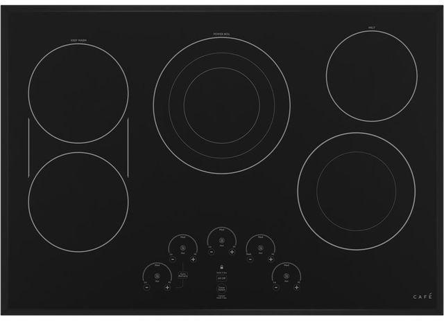 """Café™ 30"""" Black Built In Electric Cooktop-CEP90301NBB"""