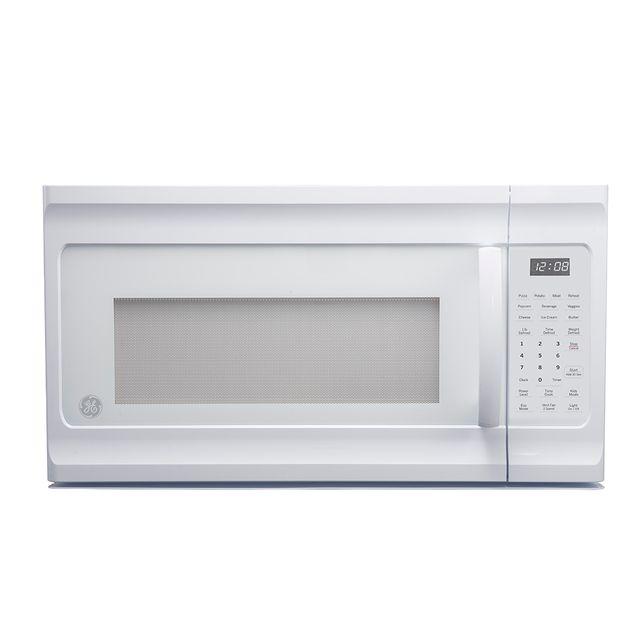 Four à micro-ondes à hotte intégrée GE® de 1,6 pi³ de 30 po - Blanc-JVM2160DMWW