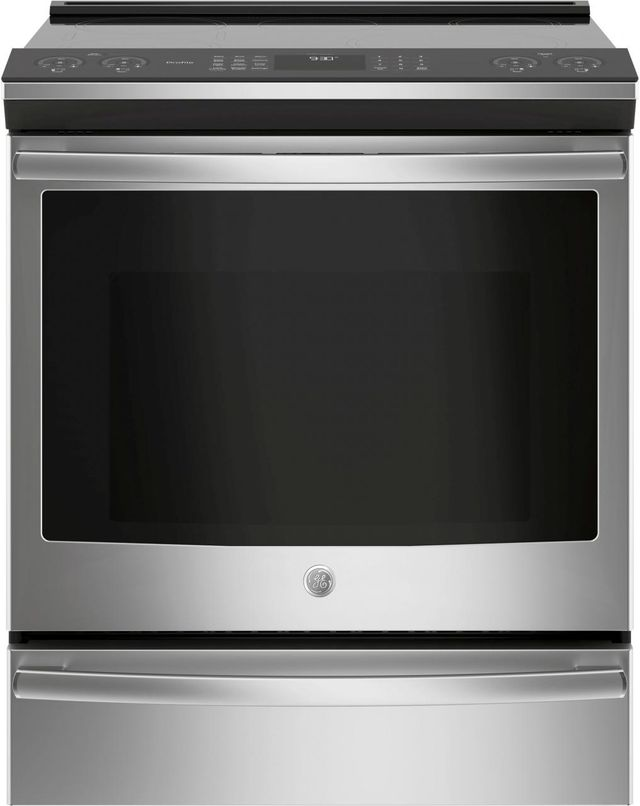 """GE Profile™ 30"""" Stainless Steel Slide In Induction and Convection Range-PHS930SLSS"""