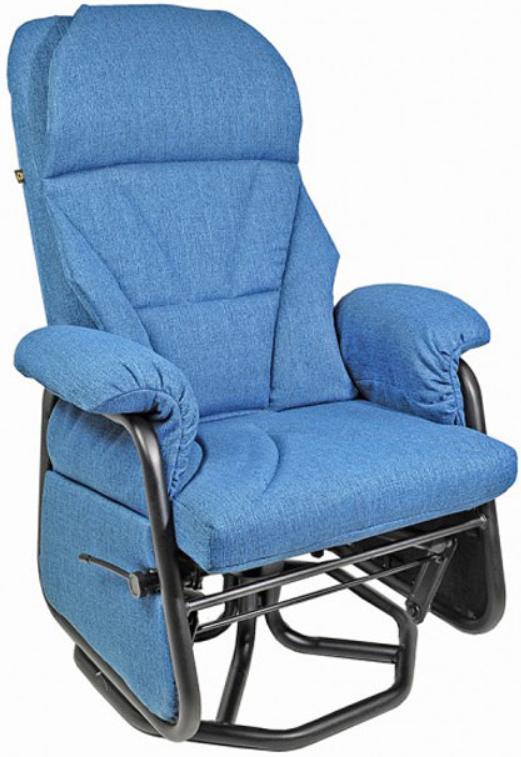 Fauteuil inclinable PEL en tissu bleu PEL International®-111619