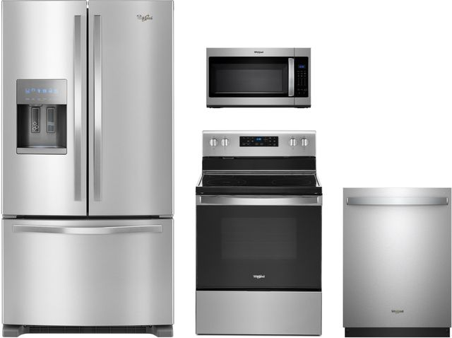 Whirlpool® 4 Piece Fingerprint Resistant Stainless Steel Kitchen Package-WHKITWDT730PAHZ