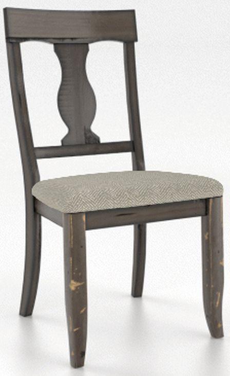 Fauteuil de salle à manger Champlain en tissu taupe Canadel®-CNN05077JW73DPC