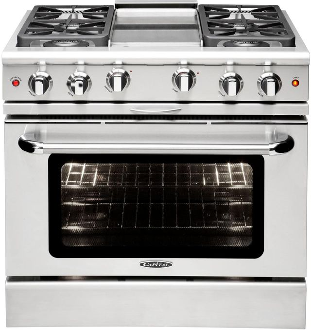 """Capital Precision™ 36"""" Stainless Steel Free Standing Gas Range-MCR364GN"""