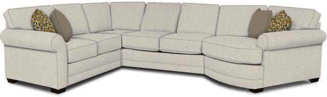 England Furniture Co. Brantley 4 Piece Culpepper Snow/Alvarado Mineral/Zara Ocean Sectional-5630-28-22-43-95+8613+8790+8601