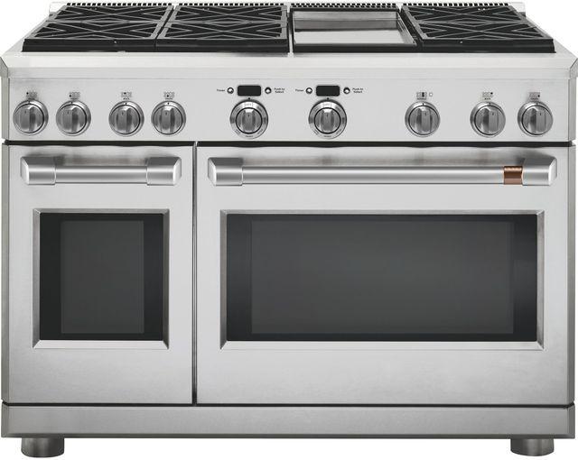 "Café™ 48"" Stainless Steel Professional Style Dual Fuel Range-C2Y486P2MS1"