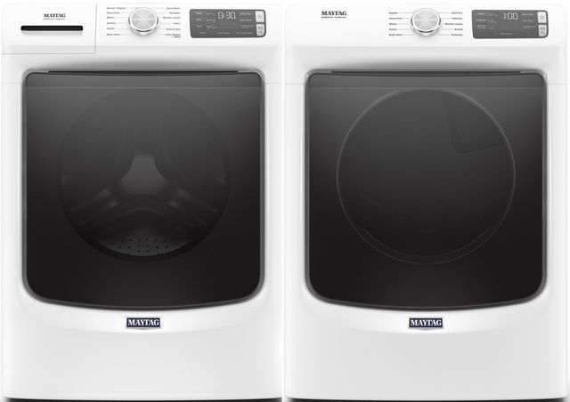 Maytag® White Front Load Laundry Pair-MALAUMHW6630HW