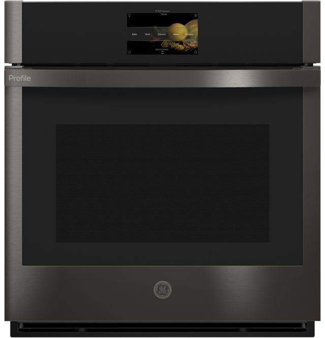 """GE Profile™ 26.75"""" Black Stainless Steel Electric Built-In Single Oven-PKS7000BNTS"""