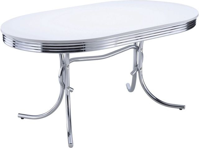 Coaster® Retro Chrome Plated Dining Table-2065