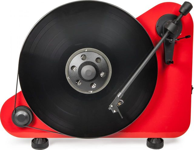 """Pro-Ject Vertical Wireless """"Plug&Play"""" Turntable-High Gloss Red-VT-E-BT-Red"""
