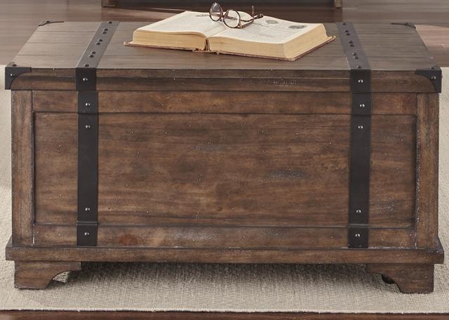 Liberty Furniture Aspen Skies Weathered Brown Storage Trunk-416-OT1010