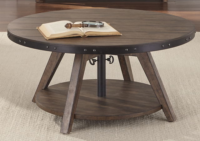 Liberty Furniture Aspen Skies Weathered Brown Motion Cocktail Table-416-OT1011