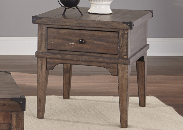 Liberty Furniture Aspen Skies Weathered Brown End Table-416-OT1020